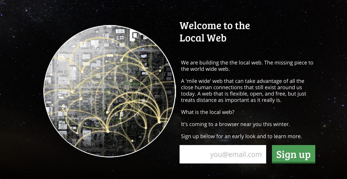 地域にフォーカス local web